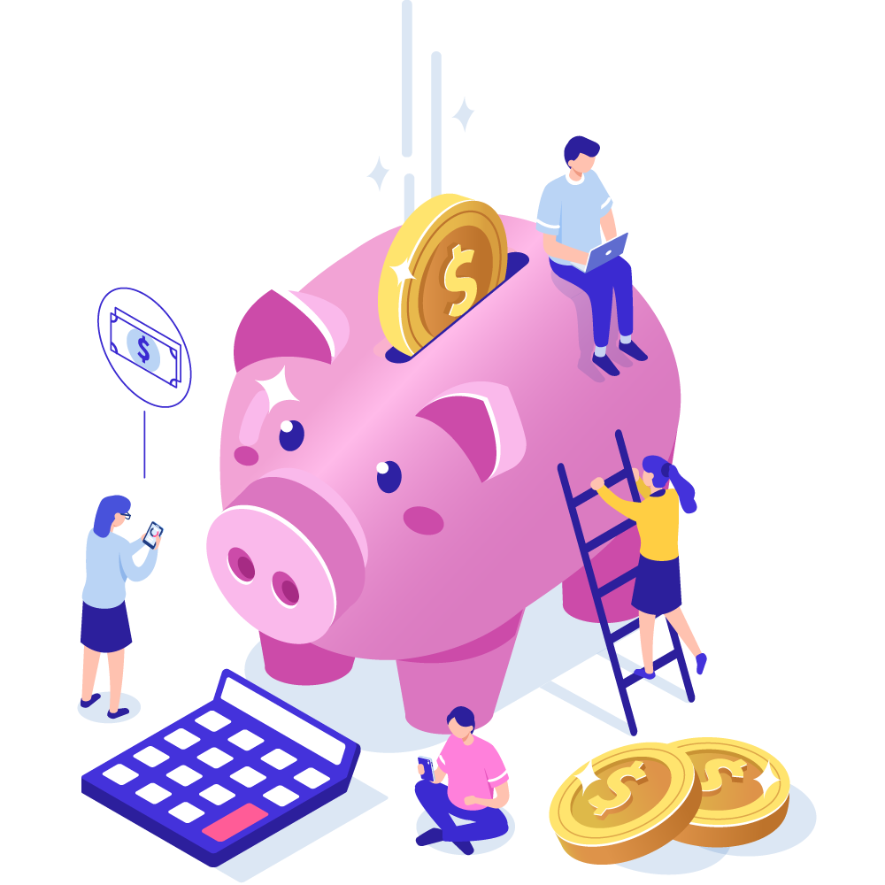 Illustration of piggy bank